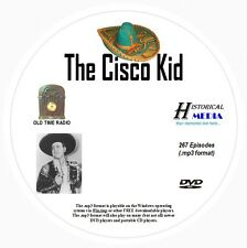 THE CISCO KID - 267 Shows Old Time Radio In MP3 Format OTR On 1 DVD