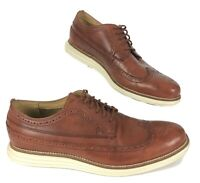 Cole Haan Grand OS Mens 9 M Brown Leather Wingtip Shoes C21133 EXTRA NICE