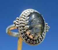 Turmalinquarz - Ring Gr. 18,5 Silber 925