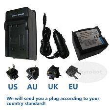 Battery+charger for Panasonic CGA-DU07 NV-GS60 NV-GS37 NV-GS27 Camcorde CGA-DU14