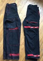 Lot Of 2 MENS MARITHE FRANCOIS GIRBAUD MFG Vintage 1990's JEANS sz 38M Red/black