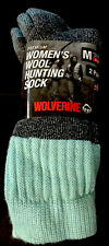 New Wolverine 2 Pack Women's Merino Wool Blend Hiking & Hunting Socks Size M 6-9