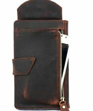 Genuine Leather Case for iPhone 8 Plus / 7 Plus cover Credit Card Slots Brown IL