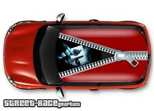 1114 Car roof vinyl wrap printed sticker - Mini Cooper Zipper Joker