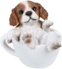 Cutie Cavalier King Charles Spaniel Puppy Dog Teacup Pet Pal Mini Figurine