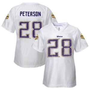 Adrian Peterson NFL Minnesota Vikings Replica White Jersey Girls Youth (XS-XL)