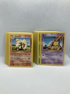 Pokemon Base Unlimited Complete Common and Uncommon Set Played