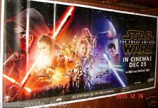 """STAR WARS: THE FORCE AWAKENS 6 SIX SHEET GIANT 52"""" X 106"""" POSTER"""