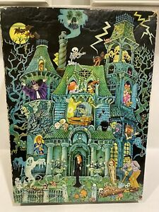 1973 Springbok HOUSE ON HAUNTED HILL 100 Piece Jigsaw Puzzle COMPLETE Halloween
