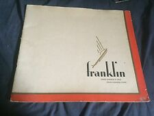 1930 Franklin 145 and 147 Large Prestige Brochure Catalog in Portuguese Prospekt