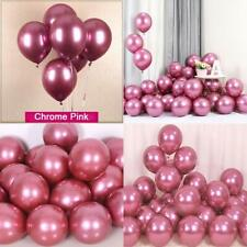 25Pcs Pink Chrome Shiny Metallic 12