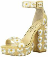 Jessica Simpson Womens Caiya3 Open Toe Ankle Strap, White Combo, Size 8.5 iJOx