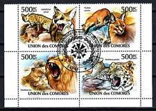 Animali Iger Comore (150) Serie 4 Francobolli Usati