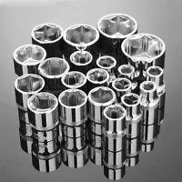 "8-32mm Cr-V Steel Wrench Standard Socket Ratchets Adapter 1/2"" Extension Sleeve"