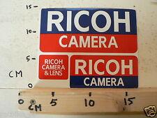 STICKER,DECAL RICOH CAMERA & LENS 3 STICKERS