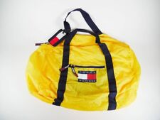 VTG Tommy Hilfiger Big Flag Duffle Gym Travel Weekend Bag Yellow Blue Red Nylon