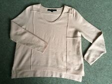 French Connection Pink Scoop Neck Seam Detail Jumper Size Me