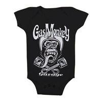 Gas Monkey Garage GMG Biker Affe Helm Kinder Baby Body Strampler 6-12 Monate