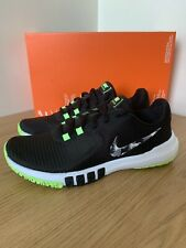 NIKE Mens Flex Control TR4 Black Shoes Trainers UK 6 Green/Black