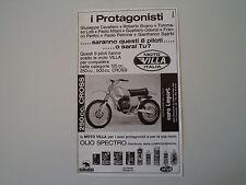 advertising Pubblicità 1976 MOTO VILLA 250 CROSS