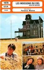 FICHE CINEMA : LES MOISSONS DU CIEL - Gere,Adams,Malik 1978 Days of Heaven