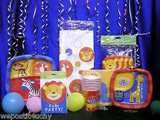 Safari Party Zoo Party Set # 16 Safari Zoo Pieces *BONUS *- 16 Animal Masks
