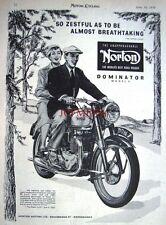 1954 NORTON 'Dominator Model 7' Motor Cycle ADVERT (487b) - Original Print Ad