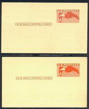 U.S. #Uxc1a Scarce Mint w/Cert - 1949 4c Deep Red on Buff