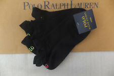 Ralph Lauren Low Cut Micro Fibre PED Tipping Trainer Ankle Socks White 3 Pair
