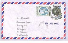 XX187 1977 DOMINICA Roseau GB Devon Airmail Cover