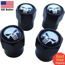 4x Wheel Tire Caps Air Valve Stem Cover ATV, UTV, Truck, Car, Punisher Skull