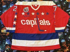 CCM 1992-93 NHL Washington Capitals Mark Hunter Game Issued Hockey Jersey