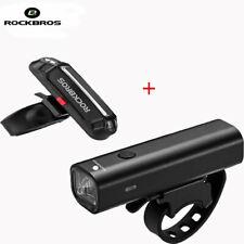 ROCKBROS Bike Head Light + Tail Light USB Rechargeable Waterproof Cycling Lights