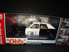 Auto World Dodge Monaco Police 1975 CHP Chips 1/18 Limited Edition