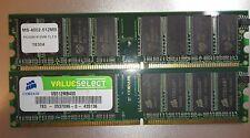 RAM Arbeitsspeicher 1GB = 2x512MB DDR1 SDRAM PC3200 400MHz 184p. getestet