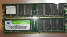 Memoria RAM 1gb = 2x512mb ddr1 SDRAM pc3200 400mhz 184p probado.