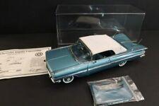 DANBURY MINT Chevrolet Impala Convertible 1959 Sapphire 1:24 Mint Condition (108