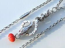 Magnifique collier fantaisie ambre pomme marron