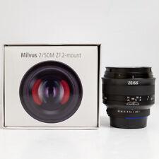 Zeiss Milvus 50mm f/2 Macro ZF.2 2/50M Manual Focus Lens Nikon F Fit Boxed
