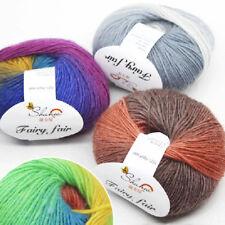 Mixed Job Lot 50g ball knitting super soft warm baby soft 100% Wool rainbow yarn