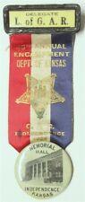 Civil War - Ladies of the GAR Medal, Dept. of Kansas, Independence 1926