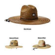 Mens Raffia Straw Sun Hat Adjustable Closure And Chin Strap Woven Imported Wear