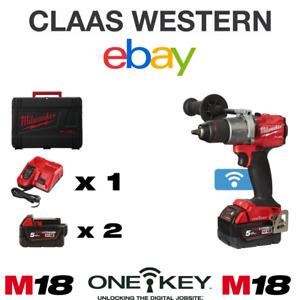 Milwaukee ONE-KEY M18ONEPD2-502X 18V 2x5.0Ah Li-ion Combi Drill (4933464528)
