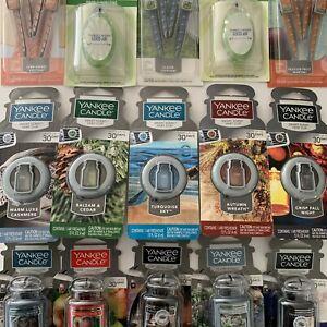 Yankee Candle Car Jar Ultimate Air Freshener Vent Clip Sticks Odor Neutralizing