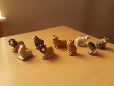 Vintage X9 Wade Whimsies Collection Of Assorted Animal Figurines.