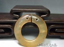 old chinese Rare Collect antique Jade hand-carved circle 003