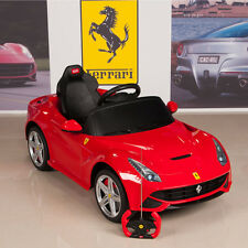 12V Ferrari Kids Ride On Car w/ Remote RC, Mat & Keychain, Red F12