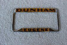 Vintage DUNHAM EUGENE licence plate frame holder