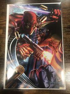 Deadpool #1 * NM+ * Greg Horn vs Wolverine VIRGIN Variant 2018 Marvel 🔥🔥