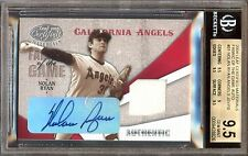 2004 Leaf NOLAN RYAN Fabric of the Game Jersey / Autograph BGS 9.5 w/10 Auto /10